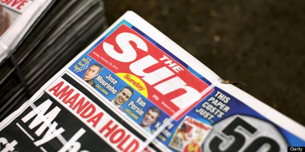 A copy of The Sun newspaper.