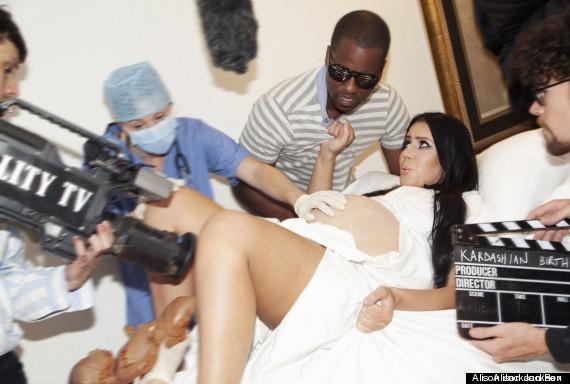 kim kardashian kanye west accouchement