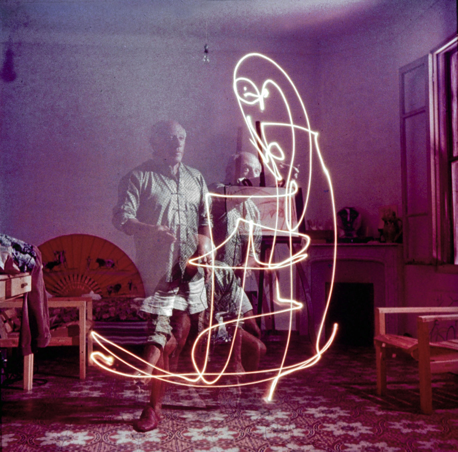 Light drawing photography artists