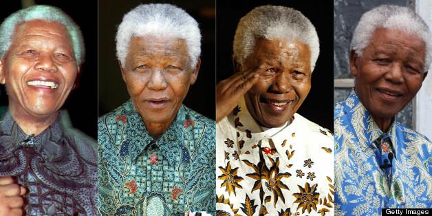 Remebering Nelson Mandela's powerful signature style.
