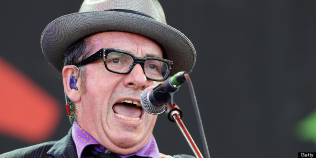 Elvis Costello performed the anti-Thatcher song