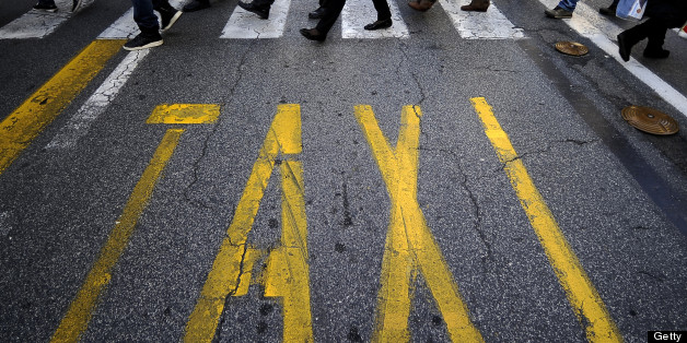 A Taxi Rank In Italy