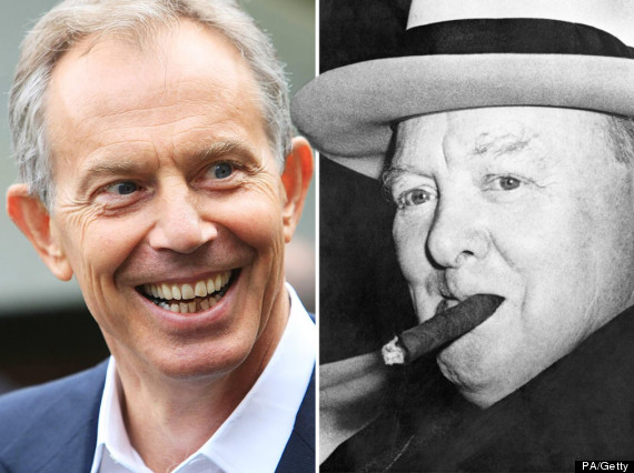 tony blair winston churchill