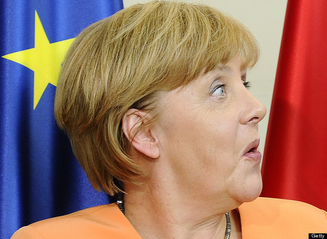 angela merkel reacts