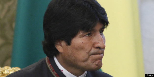 Bolivian President Evo Morales attends a meeting with his Russian counterpart Vladimir Putin at the Kremlin in Moscow, on July 2, 2013. Fugitive US intelligence leaker Edward Snowden was denied asylum by a host of countries today after applying for a safe haven in 21 nations spanning the globe in hopes of winning protection from American justice. Bolivian President Evo Morales said his country was willing to consider giving Snowden asylum. AFP PHOTO / POOL/ MAXIM SHEMETOV        (Photo credit sh