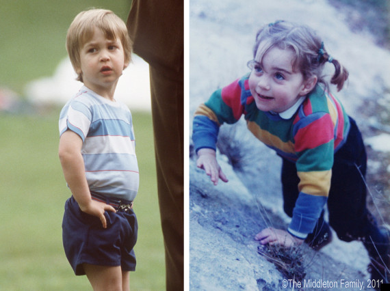 kate and william as children
