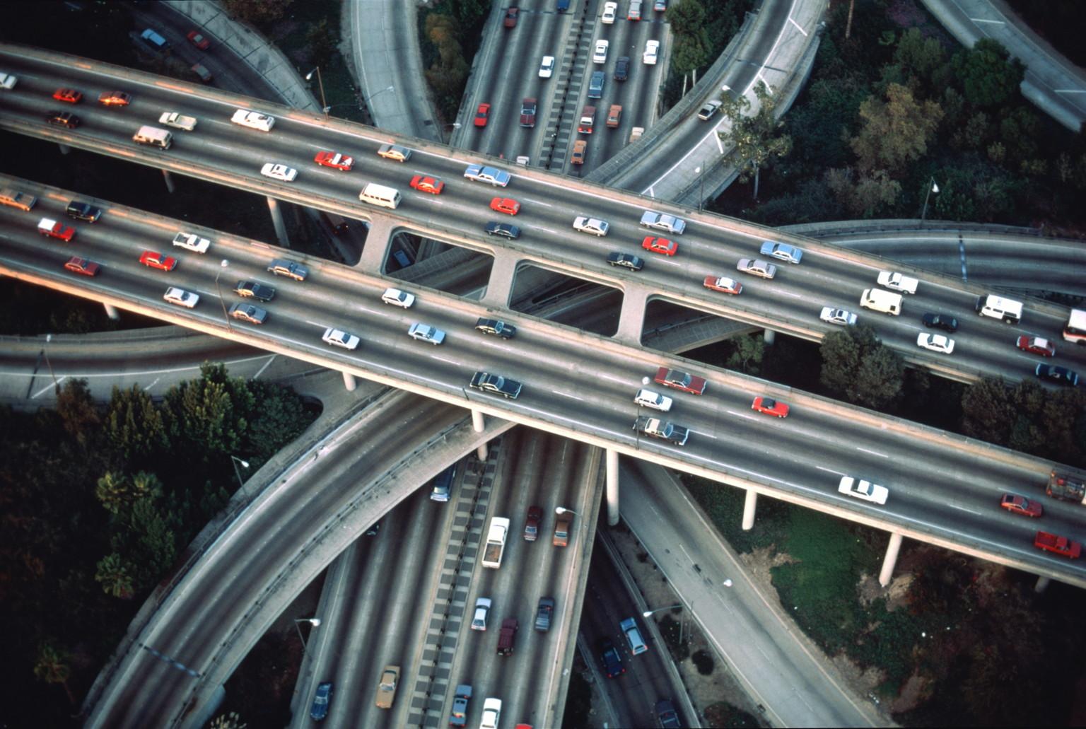 LA Freeway Fun Map CityThink Los Angeles Magazine HuffPost - Los angeles freeway system map