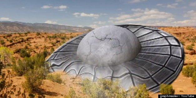 UFO Simulated Crash