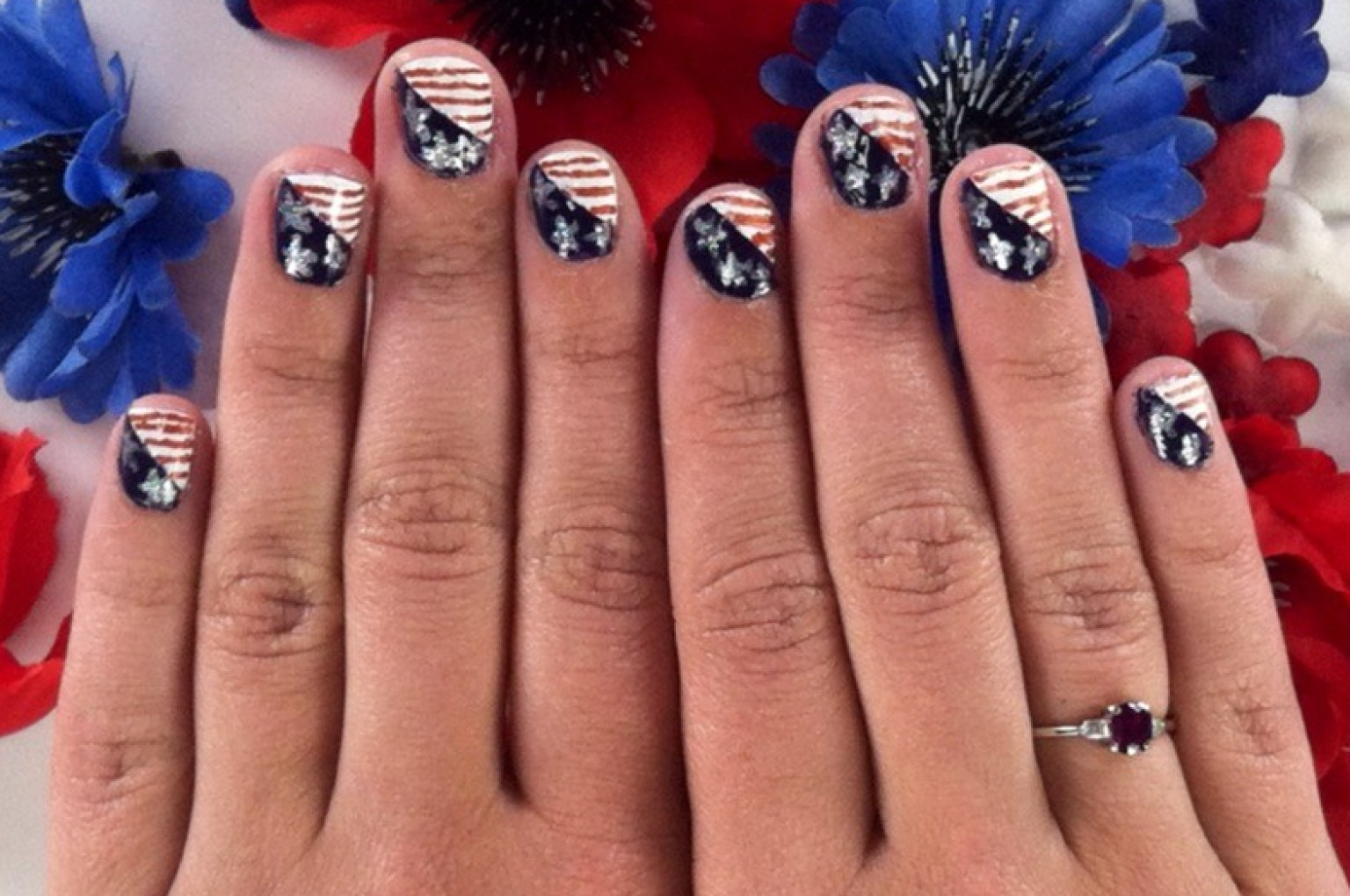 Fourth of july nail art that puts the stars in the spangled fourth of july nail art that puts the stars in the spangled banner video huffpost prinsesfo Choice Image