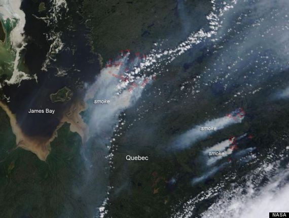 quebec forest fires