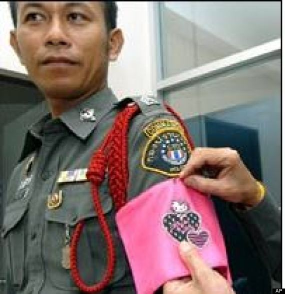 thailand police hello kitty