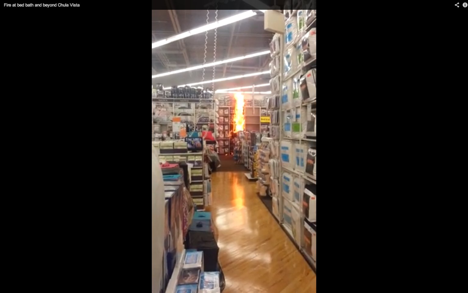 . Bed Bath And Beyond Fire Caught On Tape By Customer  VIDEO    HuffPost