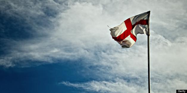St George Cross Flag. Blackpool, England. UK