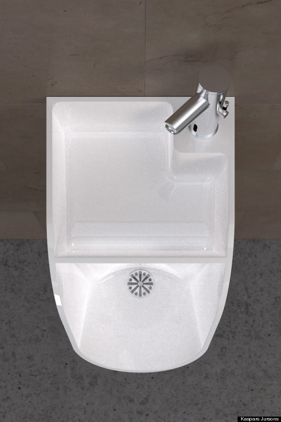 The Urinal Sink Is This What It Takes To Get Men Wash Their Hands