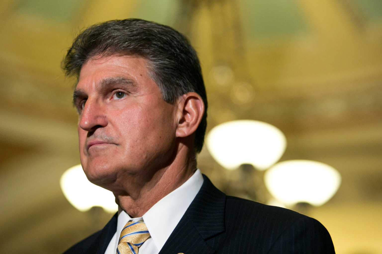 Manchin urged his colleagues Tuesday afternoon to come together and not campaign against a sitting senator in the upcoming November election cycle
