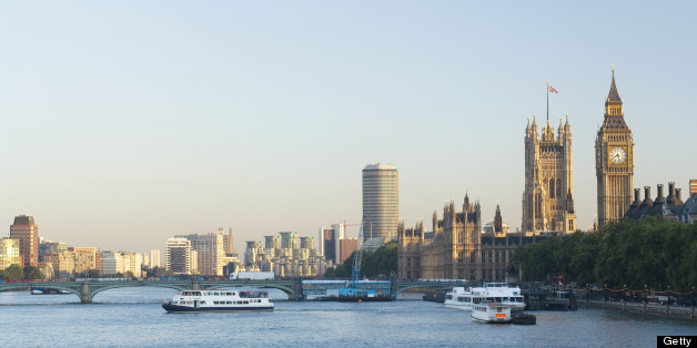 'River Thames view with Westminster Bridge, the Houses of Parliament and Big Ben. Wonderful late evening light. See my other London images shot on this beautiful evening:'