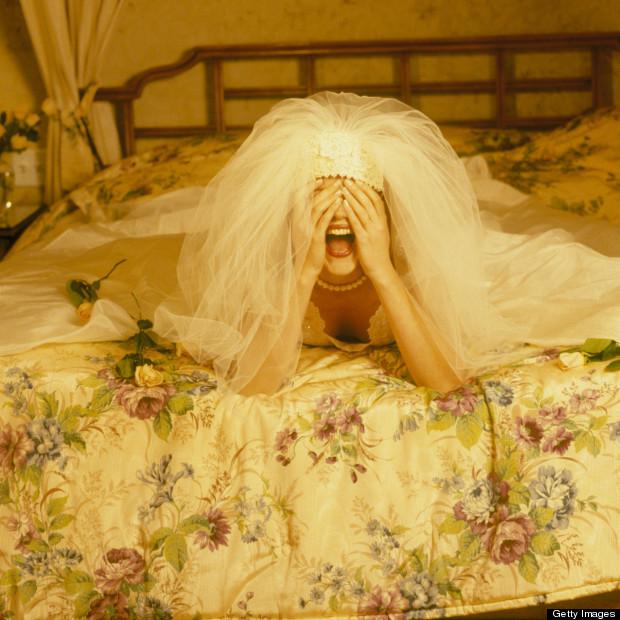bride crying