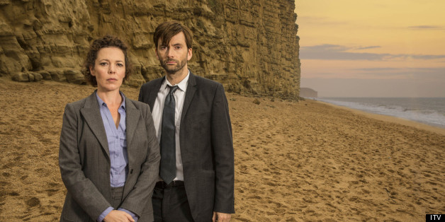 Olivia Colman and David Tennnant in Broadchurch