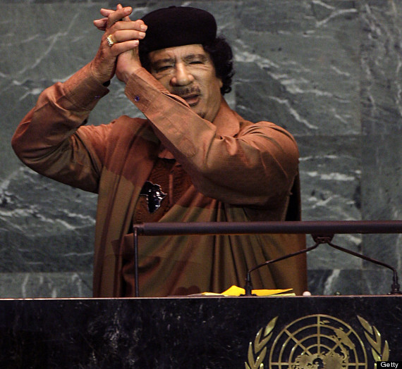 colonel gaddafi un speech