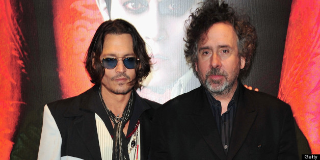 LONDON, ENGLAND - MAY 09:  Actor Johnny Depp and director Tim Burton attend the 'Dark Shadows' European film premiere at the Empire Leicester Square on May 9, 2012 in London, England.  (Photo by Jon Furniss/WireImage)