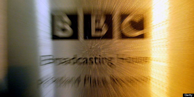 The BBC logo at Portland Place is shown after the release of the Hutton Report lead to the resignation of BBC Chairman Gavyn Davies in London 28 January, 2004. The Hutton report exonerated the government of Prime Minister Tony Blair but criticized the BBC for failing to fully vet the May radio report which claimed the British government had sexed up its intelligence on Iraqi weapons. AFP PHOTO Nicolas ASFOURI        (Photo credit should read NICOLAS ASFOURI/AFP/GettyImages)