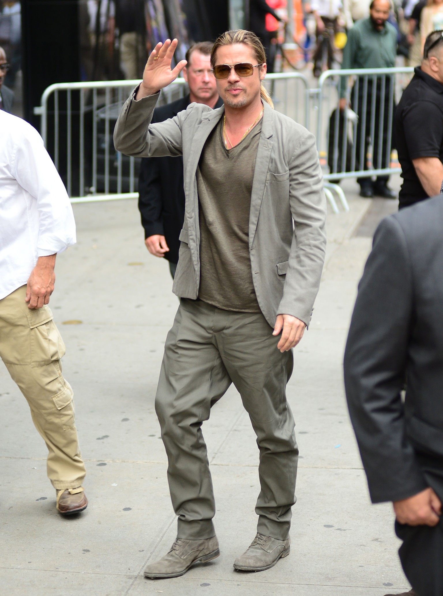 Brad Pitt Really Really Loves His Monochromatic Outfits