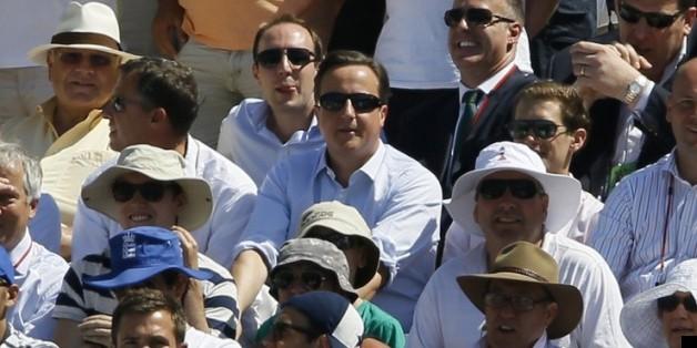 David Cameron 'chillaxes' at the cricket on Friday