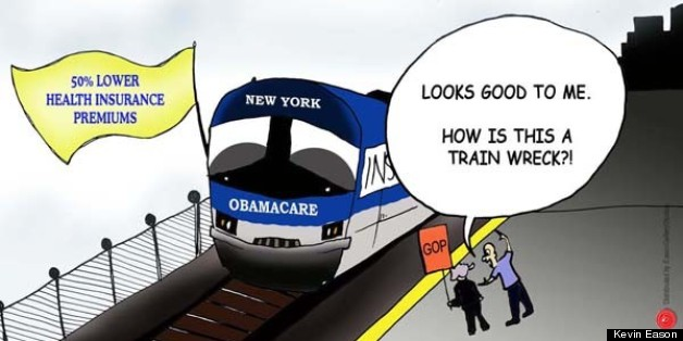 New York Obamacare Plan Best Thing Since The Subway? (CARTOON)