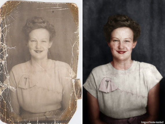 portrait restaure