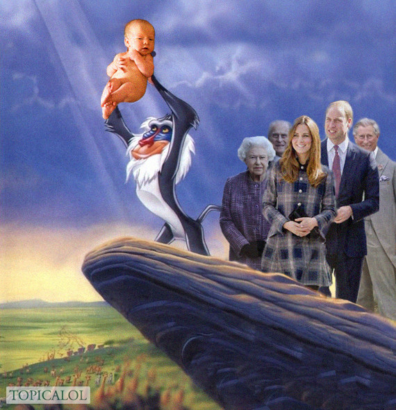 royal baby lion king spoof