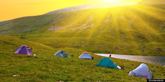 touristic camp in a mountains...