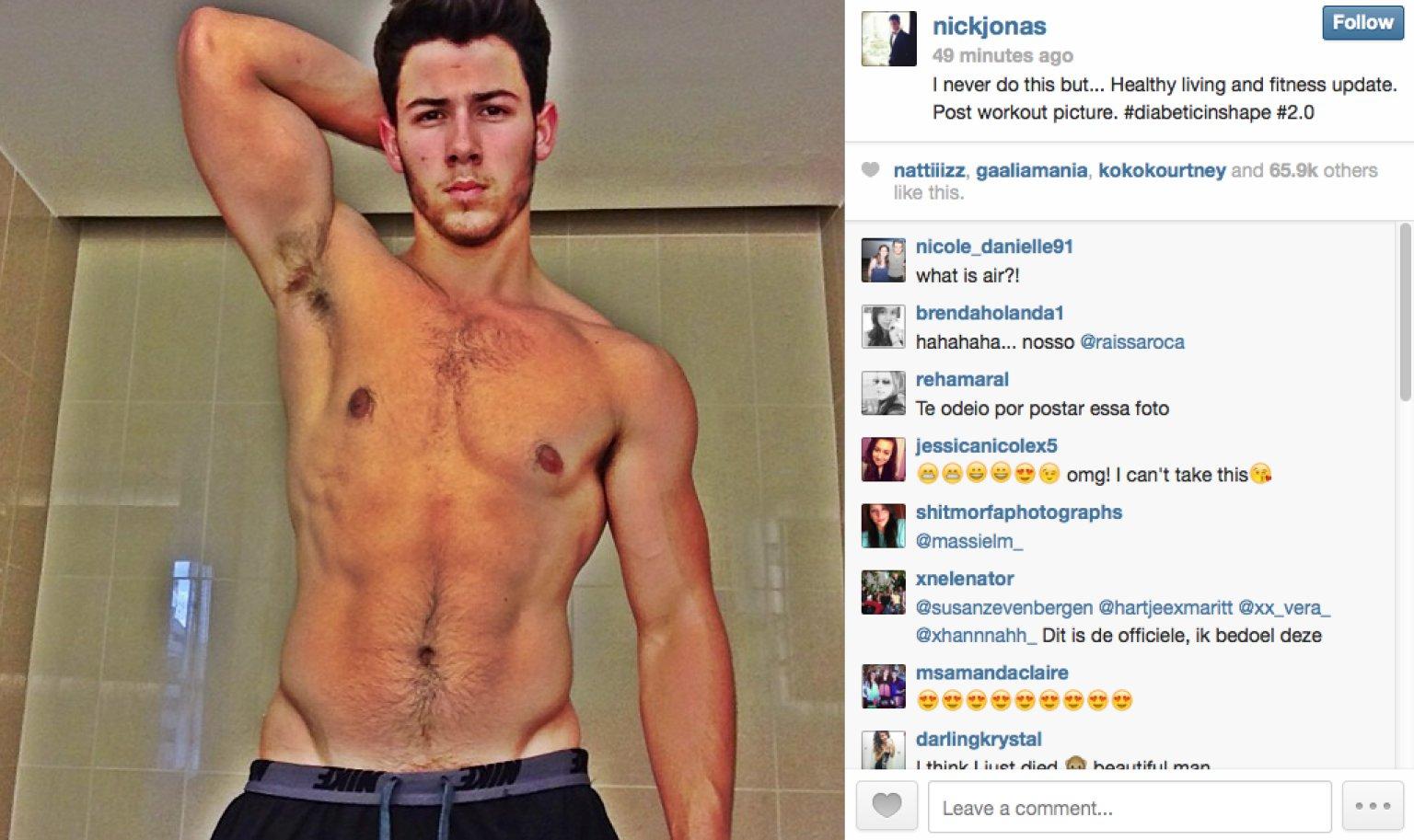 Nick Jonas Posts Shirtless Selfie  Huffpost-9170