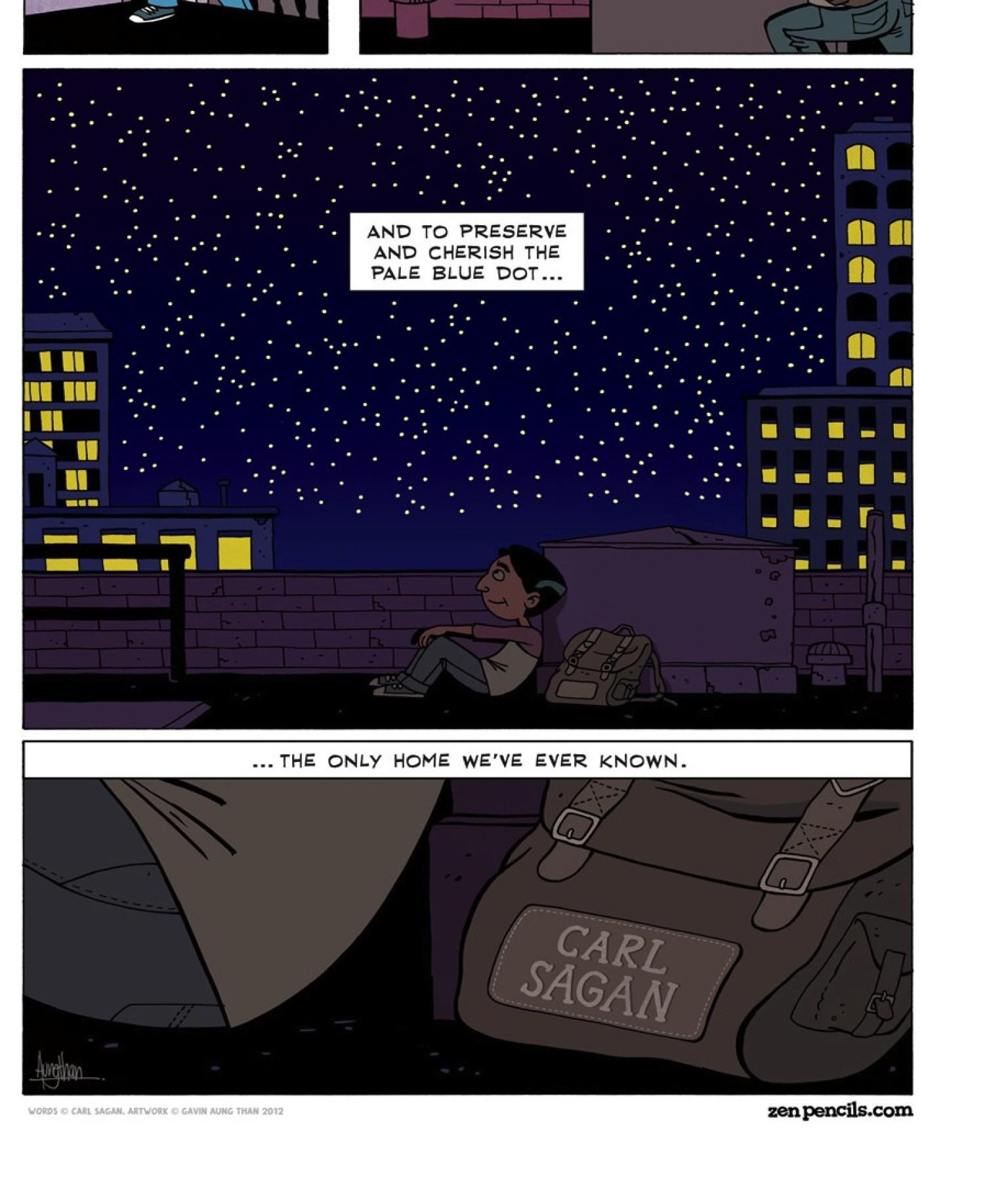 pale blue dot u0027 comic strip memorializes carl sagan reminds us of