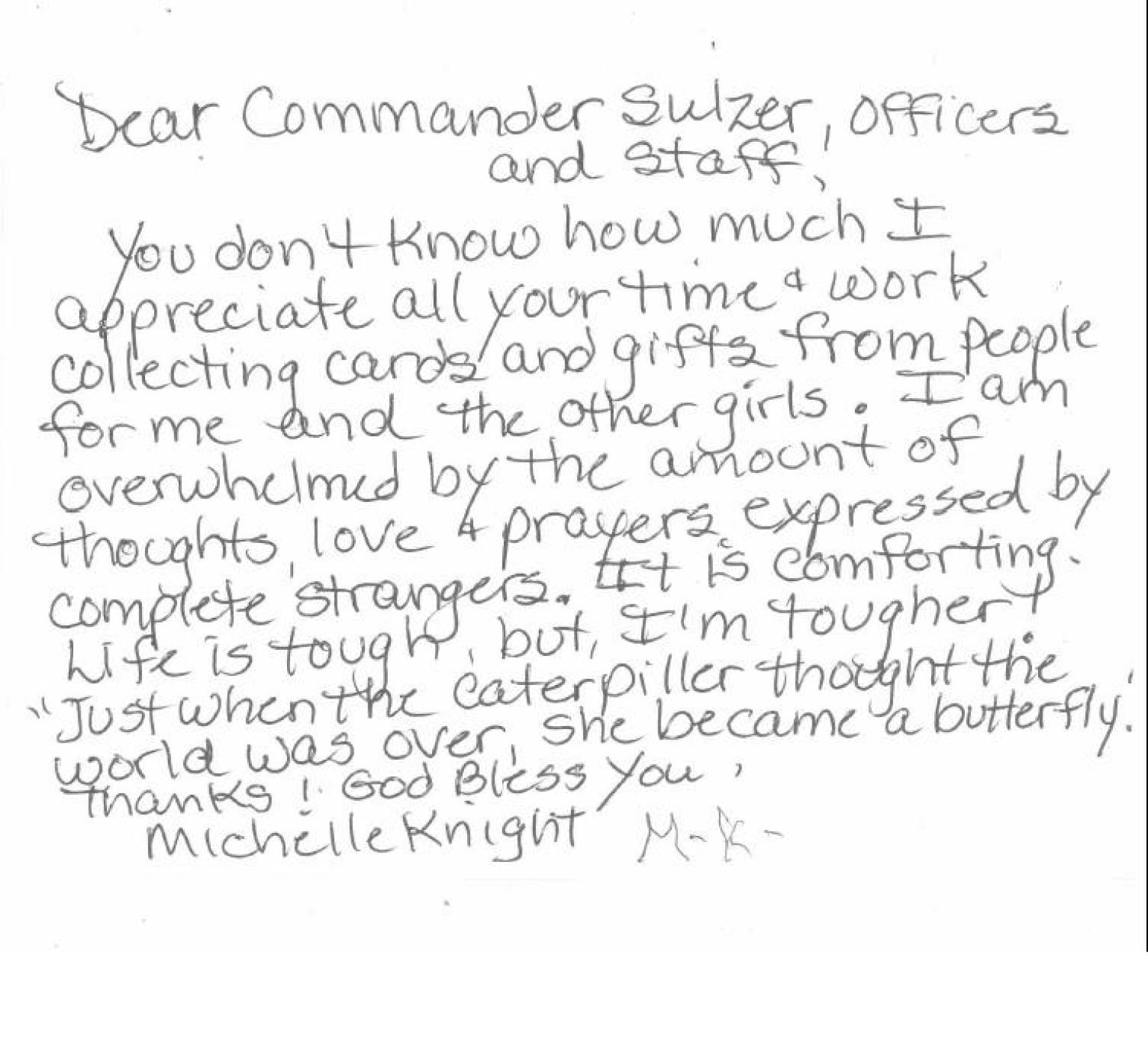 Michelle knights heartfelt note to cleveland police and other thank michelle knights heartfelt note to cleveland police and other thank you notes to cops photos huffpost altavistaventures Choice Image