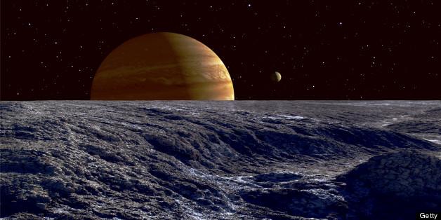 Europa Moon Surface