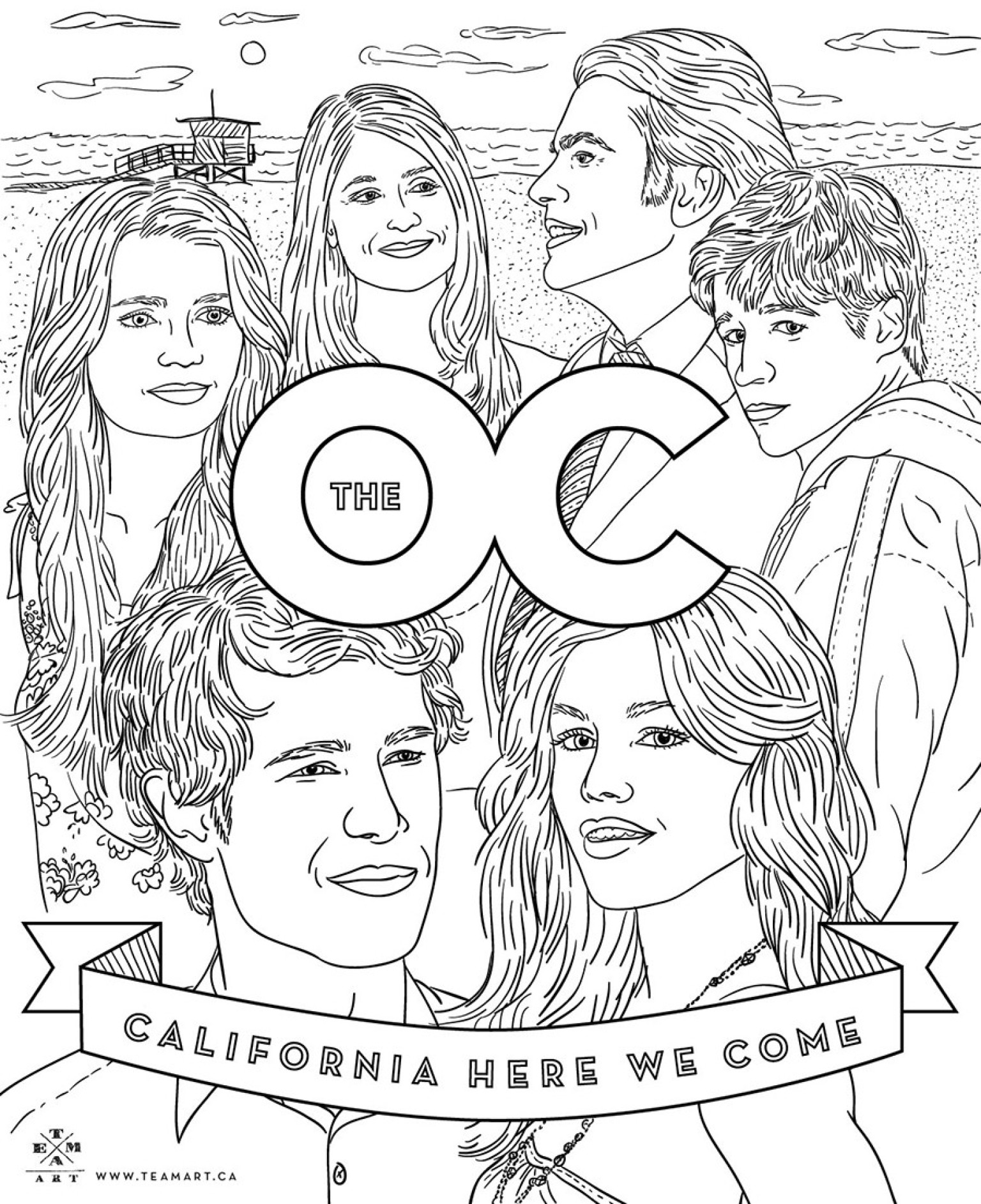 the oc u0027 coloring page celebrate the 10 year anniversary huffpost