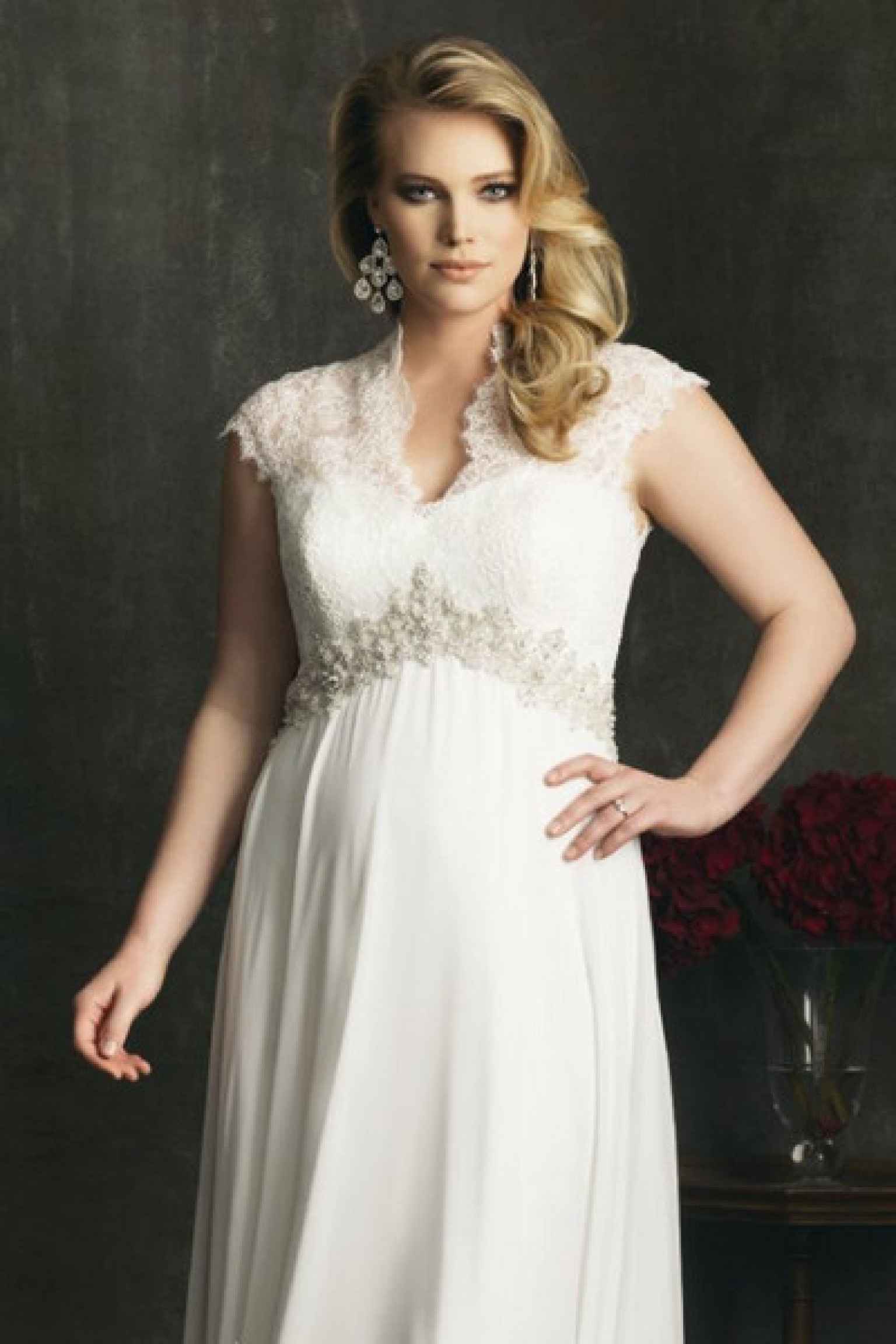 Plus size small bust dresses for wedding