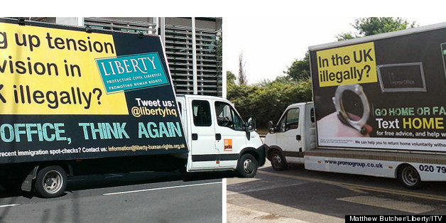 The Liberty  van outside the Home Office