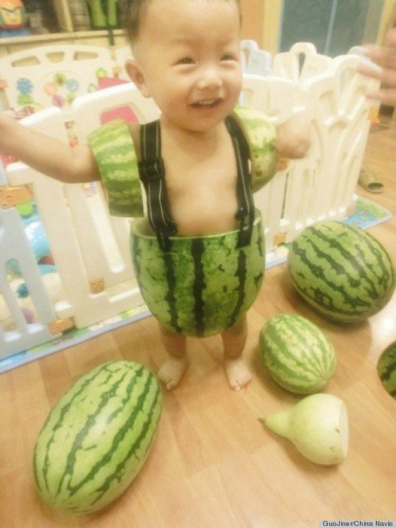 baby watermelon shorts