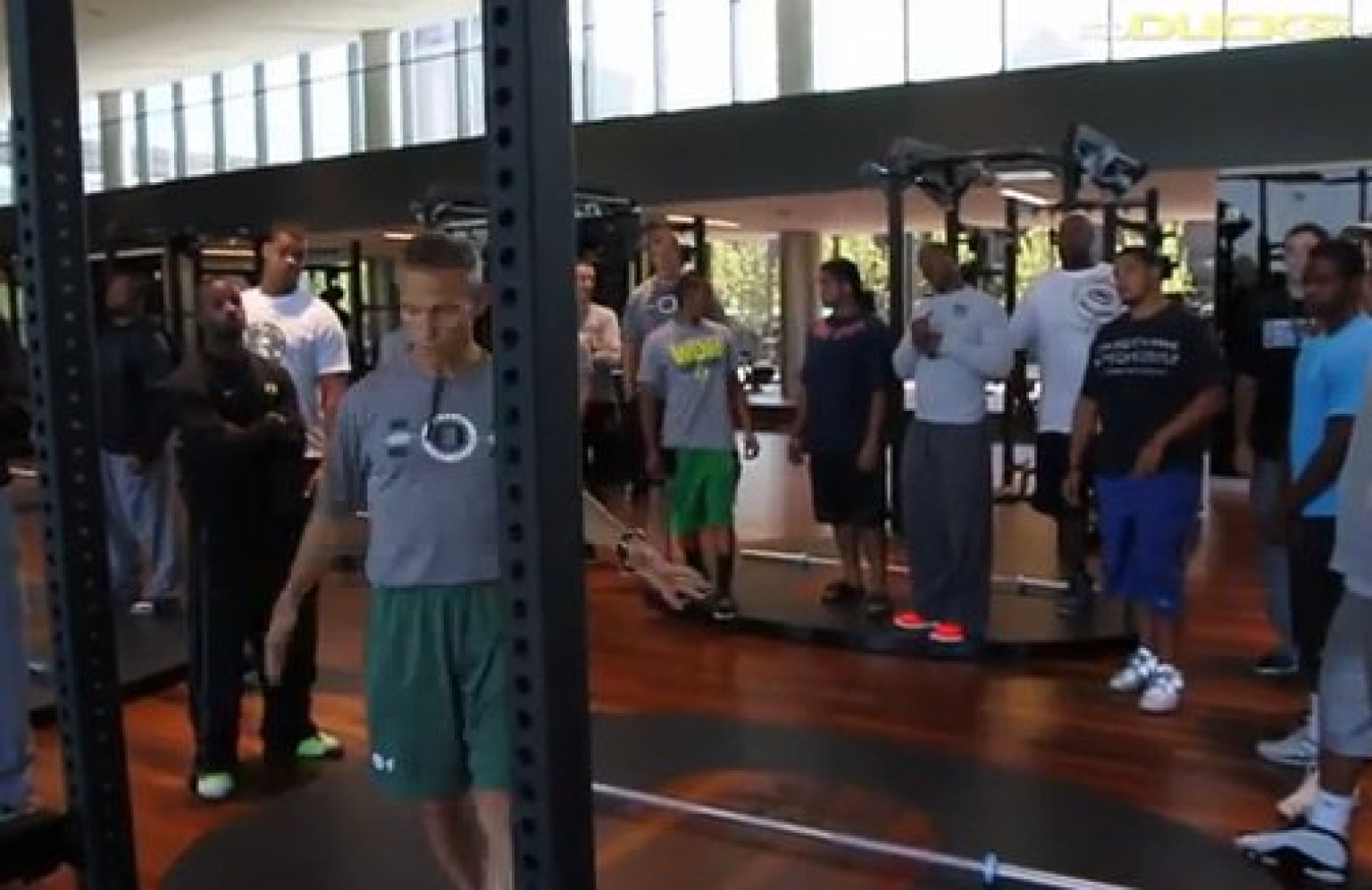 Oregon Locker Room Football Tour
