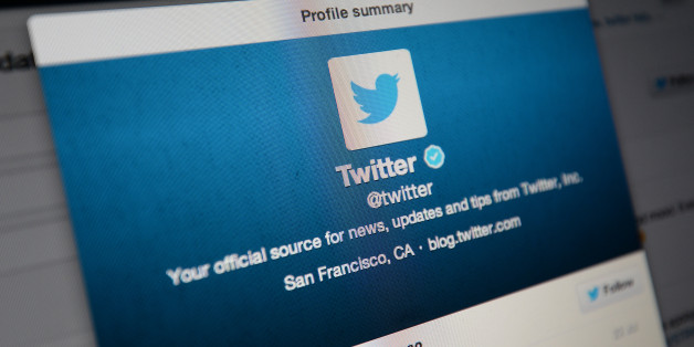 General view of the Twitter application in use on a computer screen.