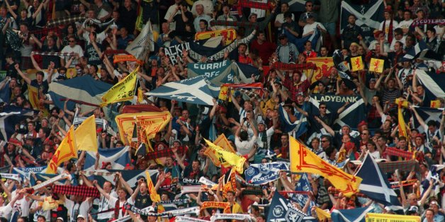 Scotland fans at Wembley prior to their Euro 96 match with England
