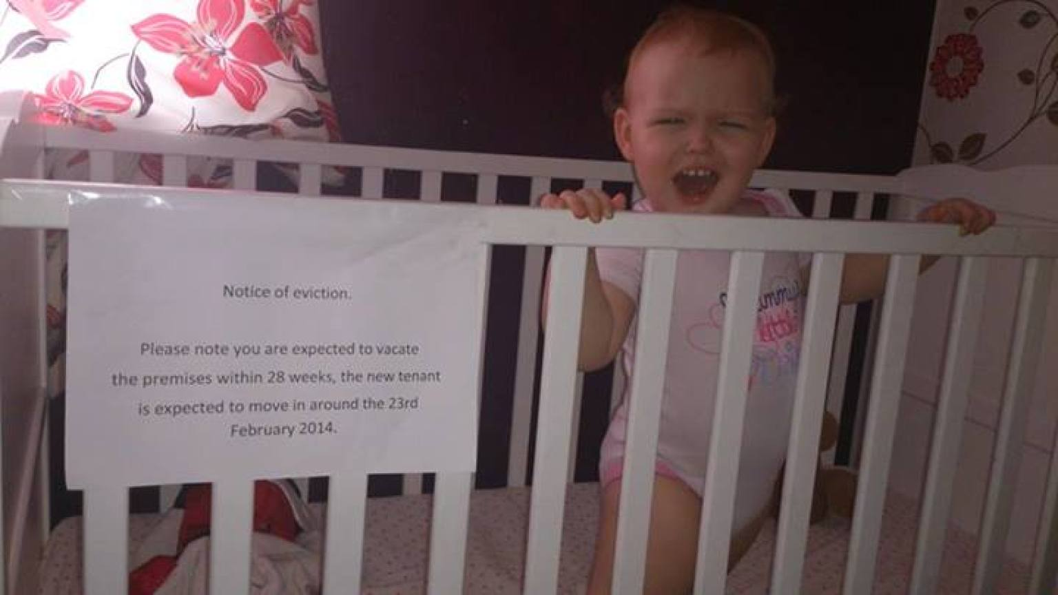 the world 39 s cutest eviction notice photo huffpost. Black Bedroom Furniture Sets. Home Design Ideas