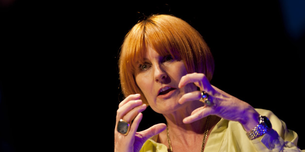 HAY-ON-WYE, UNITED KINGDOM - JUNE 09: Mary Portas attends the Hay Festival on June 9, 2012 in Hay-on-Wye, Wales. (Photo by David Levenson/Getty Images)