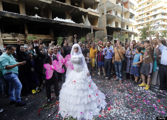 lebanese bride and groom