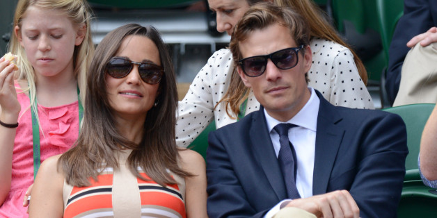 Pippa Middleton and Nico Jackson attend Day 11 of the Wimbledon Lawn Tennis Championships at the All England Lawn Tennis and Croquet Club on July 5, 2013 in London, England.  (Photo by Karwai Tang/WireImage)