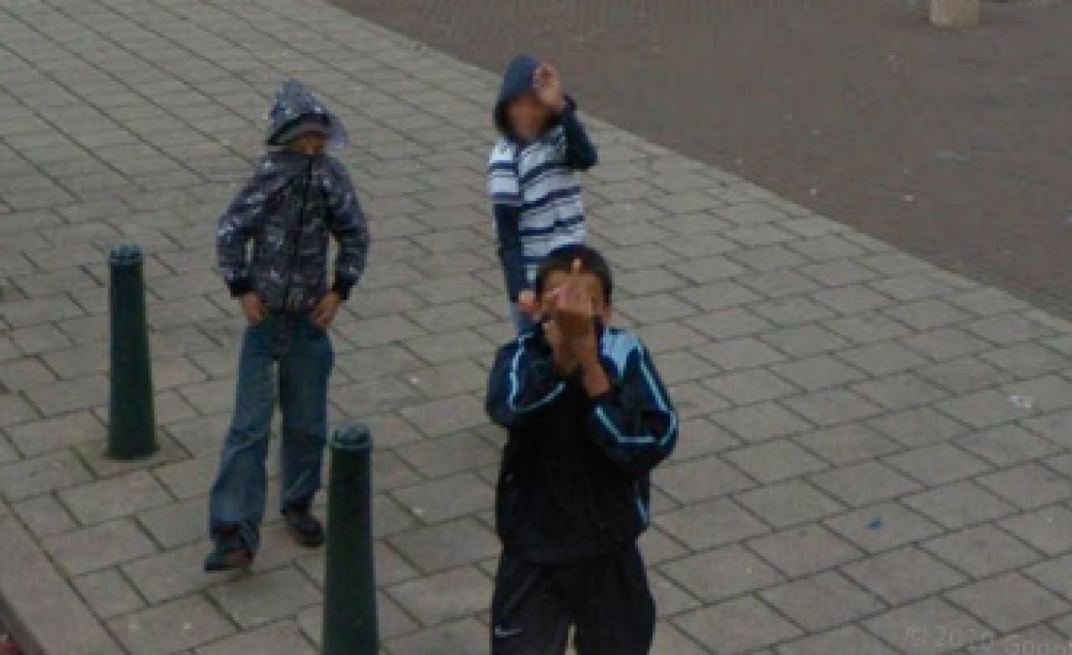 The world unites in flipping off the google street view car huffpost gumiabroncs Choice Image
