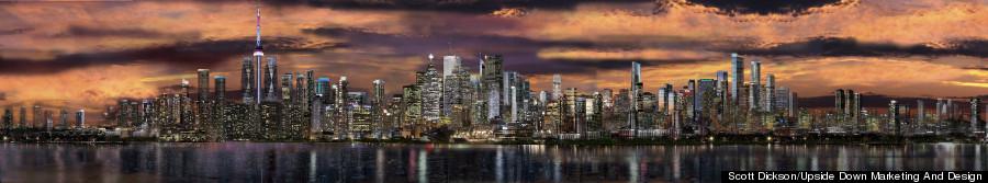 toronto skyline photos