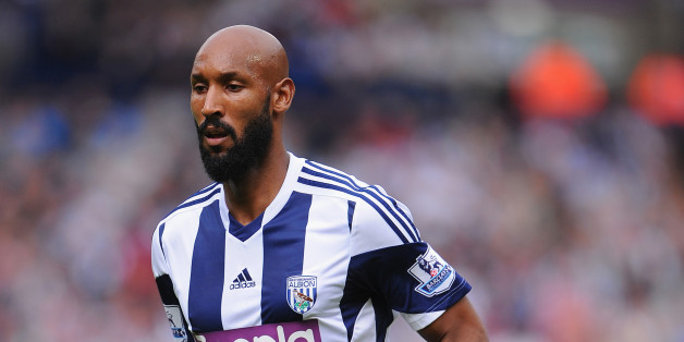 WEST BROMWICH, ENGLAND - AUGUST 17: Nicolas Anelka of West Brom in action during the Barclays Premier League match between West Bromwich Albion and Southampton at The Hawthorns on August 17, 2013 in West Bromwich, England. (Photo by Michael Regan/Getty Images)