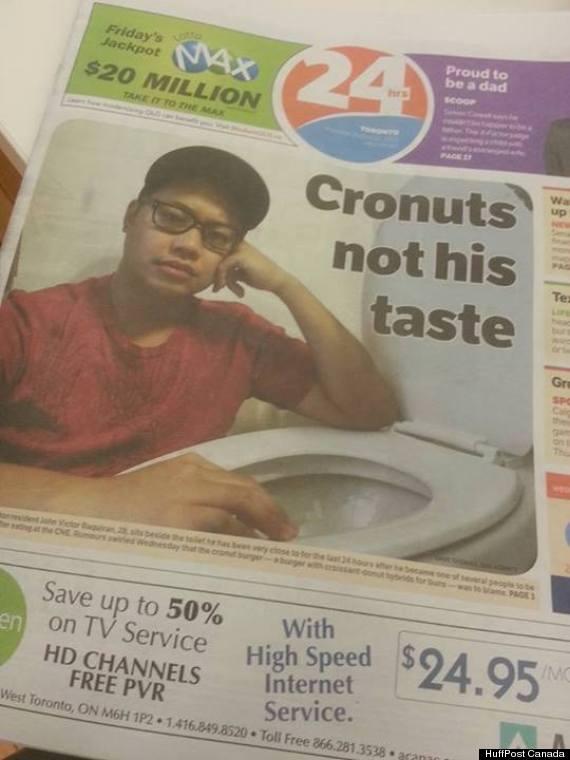 cronut burger food poisoning